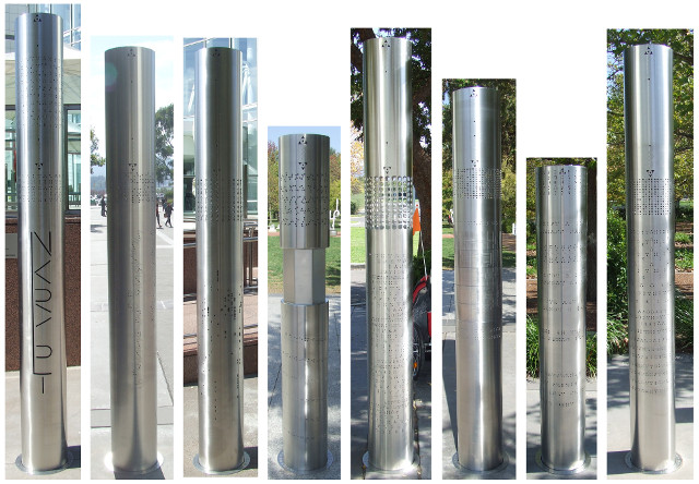set of 8 pillars